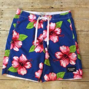Men's Abercrombie & Fitch Hibiscus Swim Shorts XL